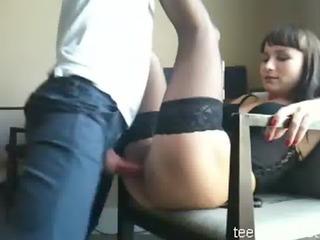 amateur beatiful brunette anal sex