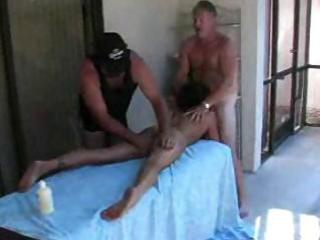 aged swingers party by the pool with sexy blowjob