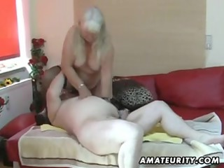 bulky amateur wife sucks and fucks on her ottoman