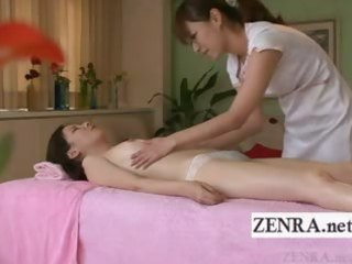 subtitled japanese milf lesbo oil massage foreplay