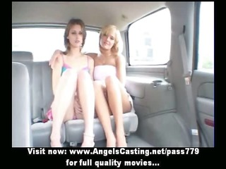 lesbo sweethearts and hawt hitchhiker talking and