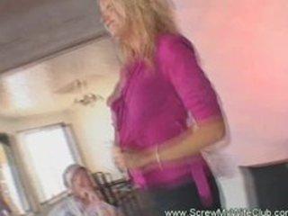 lustful golden-haired wife craved for a huge jock