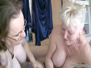 sexually excited old granny engulfing a wang