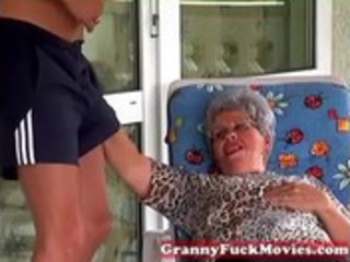 granny eve engulfing hard youthful wang