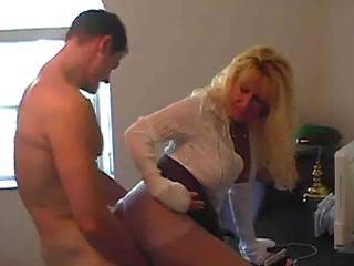 sexy breasty blonde granny cougar julia