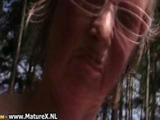 horny older lady likes nudism and plays part8