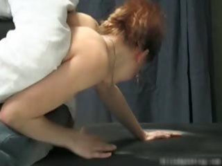 naughty sexy milf redhead honey acquires spanked