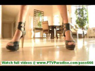 rita enjoyable brunette mother i toying muff on