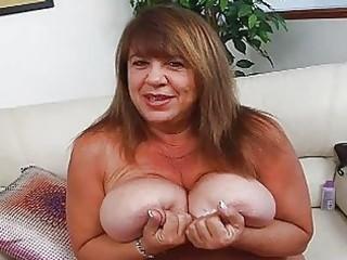 Mature momma with extra massive bosom sticks