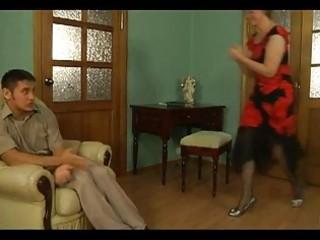 slutty older blondie seducing virginal chap
