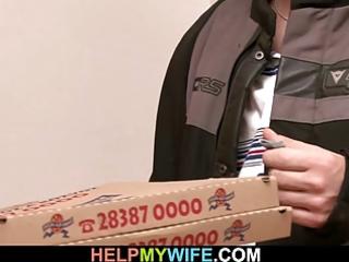 delivery lad bonks his juvenile wife for cash