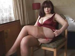 large tits mature panty play and striptease