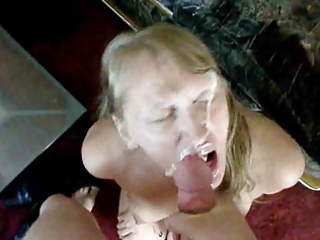 golden-haired mother i receives jizzed all over