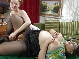 juvenile and older brunette hair lezzie fingering