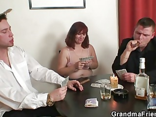 disrobe poker leads to threesome