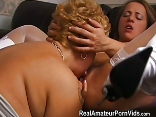 aged chubby housewives toy and assplay