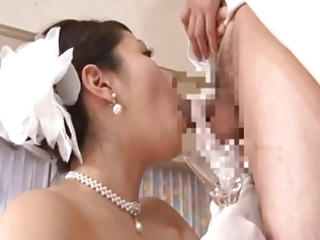 older brides drinking cum