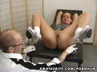 mature dilettante wife goes for a checkup and