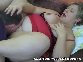 corpulent amateur wife homemade engulf and fuck