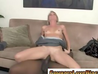 aged interracial babe acquires fucked