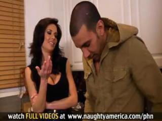 marvelous busty mom veronica avluv helps chap