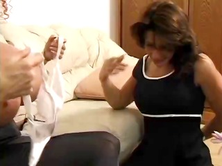 reckless red-haired slut takes her strap-on and