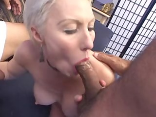 hot granny drilled by 2 males