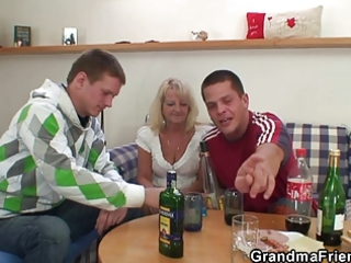 partying chaps screw granny
