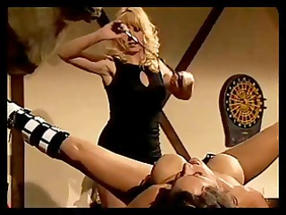 playgirl receives nipple clamps and pussy spanking