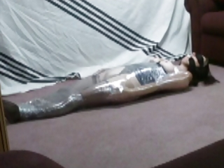 wife in saran wrap pain and pleasure...
