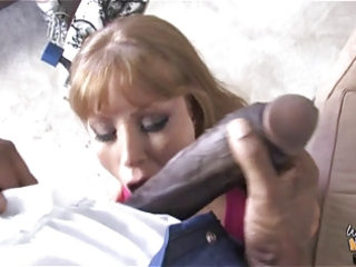 dirty mother fucks 511 inch dark cock in front of
