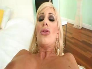 breasty blond d like to fuck sucks on his dick