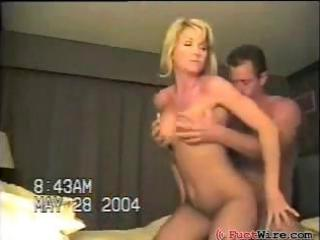 busty, blonde, dilettante wife acquires drilled