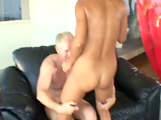 older blond wife acquires wazoo screwed in front