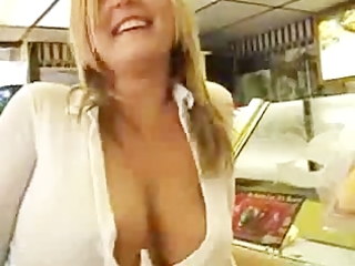 My moms naughty in public