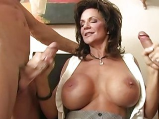 breasty brunette d like to fuck gangbanged by two