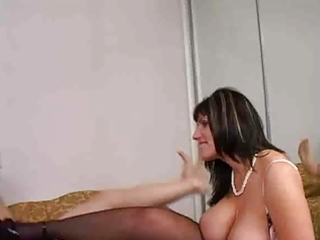 english milfs corner a youthful lad