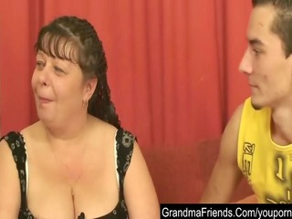 plump mature is double drilled and cumfaced