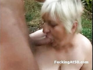 lewd obese granny oral pleasure and screwed by