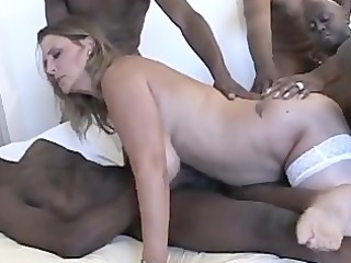 wench shelby big tits aged interracial team fuck