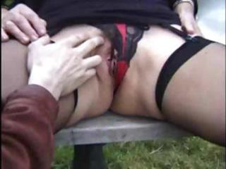 Outdoor granny threesome