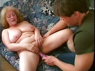 chubby granny sucks and fucks young stud