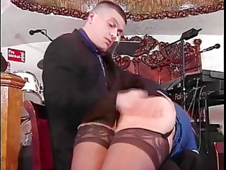 slut in stockings receives ass spanked