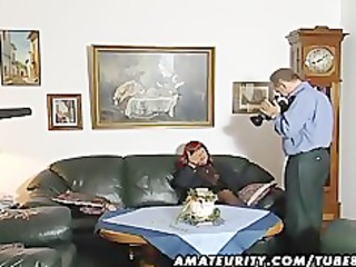redhead amateur mother i sucks schlong with cum