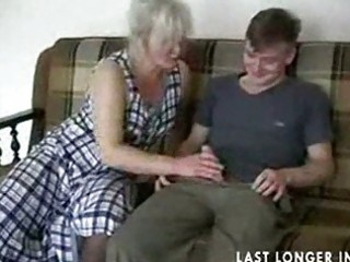 older blond in nylons copulates the guy part7