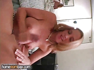 breasty blond wife jerking weenie 8