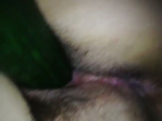 unaware wife fucked with chubby cucumber