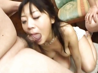 japanese milf gagged by plump bellied knobs