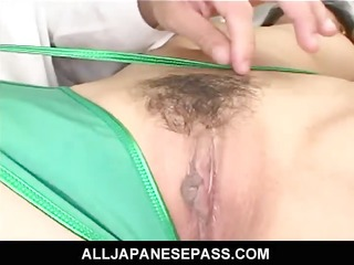 excited japanese teacher learns a lesson herself