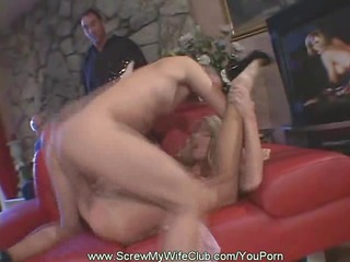 swinger wife fucks whilst hubby watched